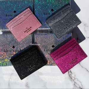 Kate Spade Glitter Cardholder with Gift Box